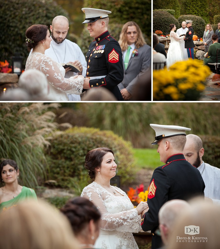 Zak and Meredith say their vows