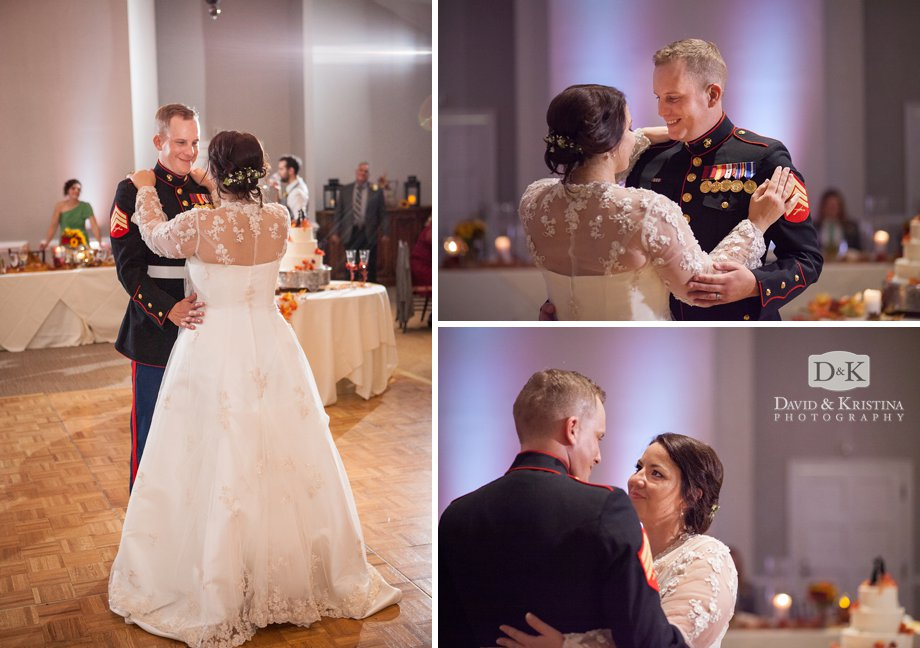 bride and groom share first dance