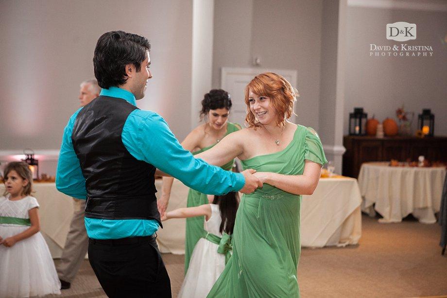 dancing at Zak and Meredith's wedding