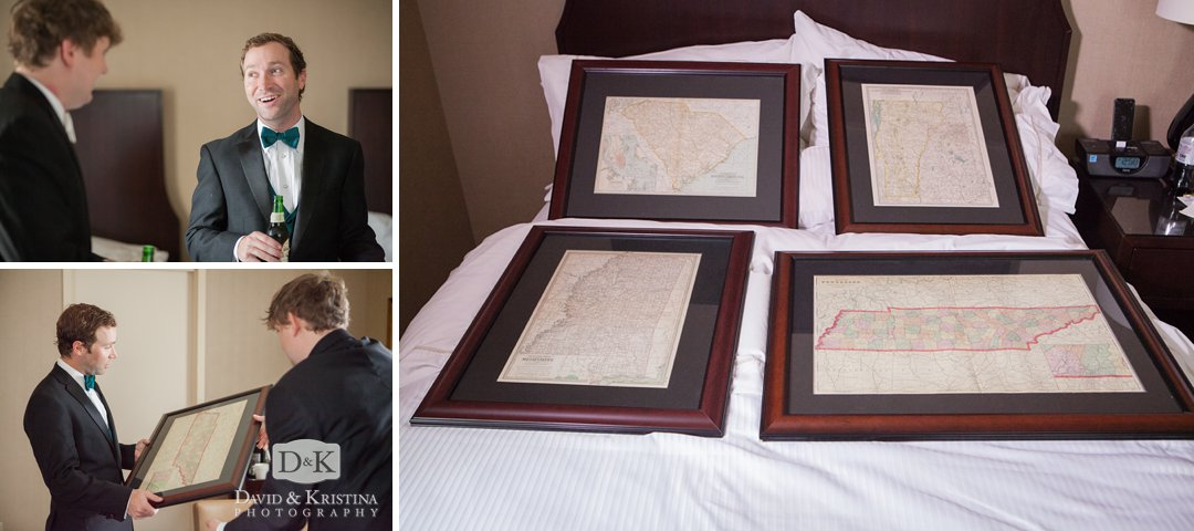 framed state maps for groomsmen gifts