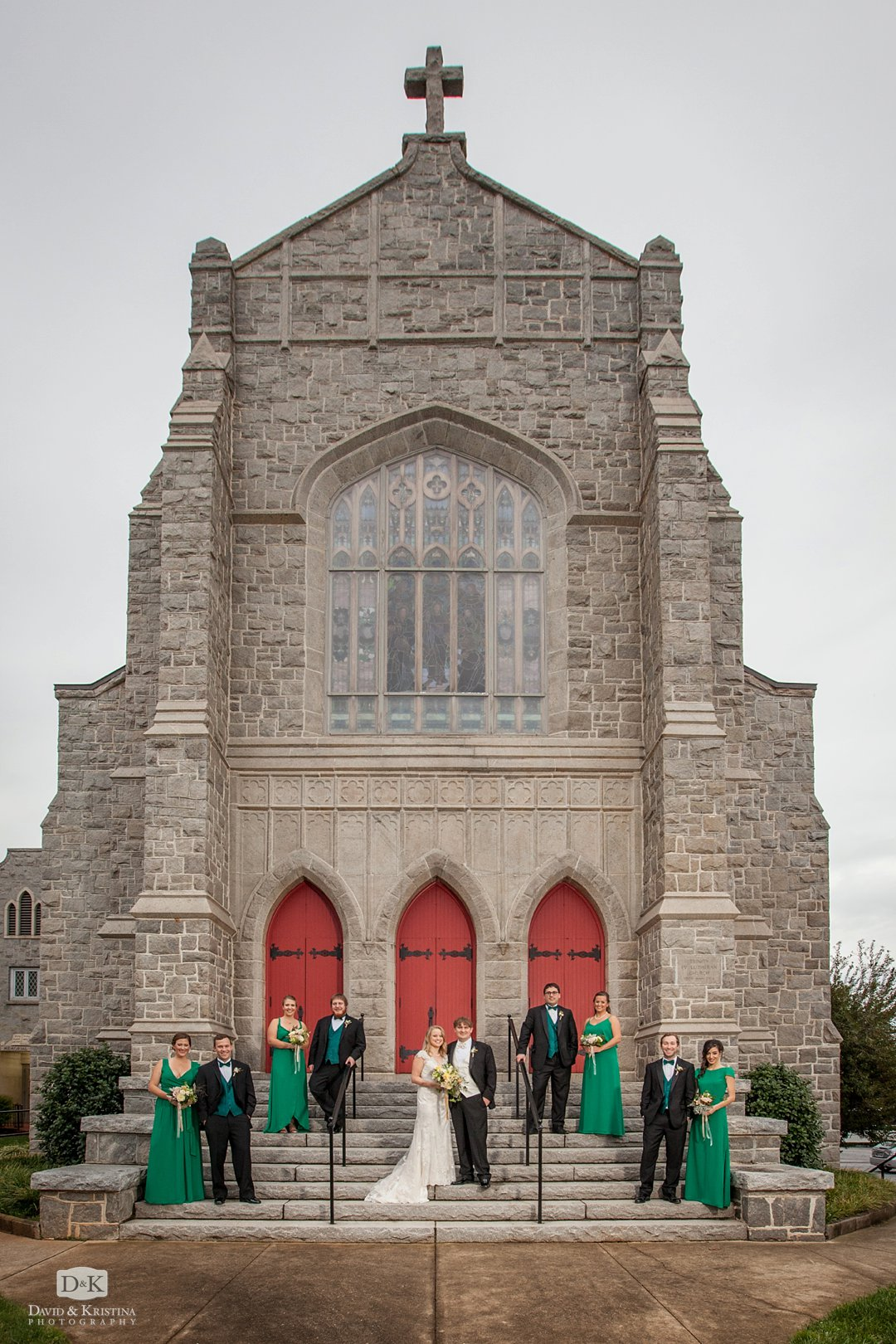 Trinity Lutheran Church Greenville SC wedding party