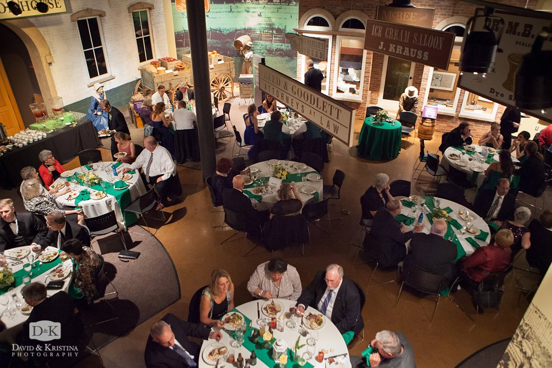 dining during wedding reception at Upcountry History Museum