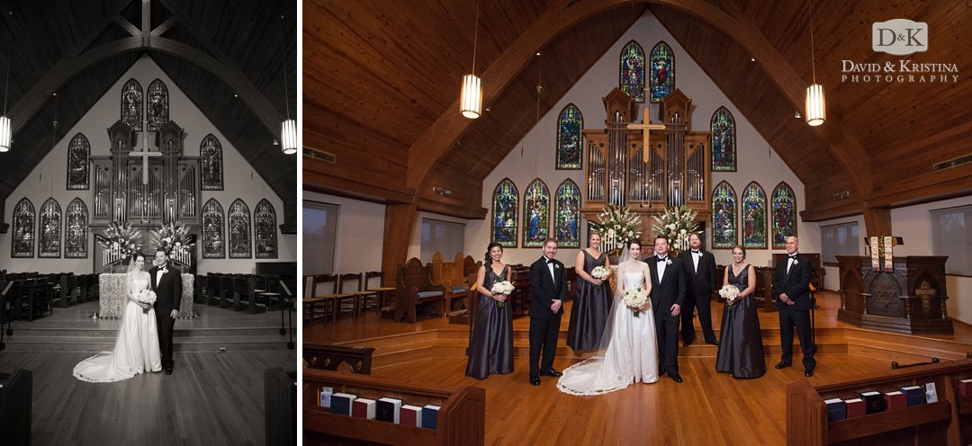 wedding photos inside St. James Episcopal Greenville SC