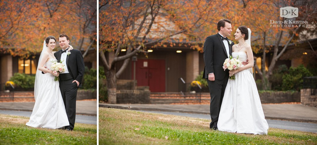 bride and groom at St. James Episcopal