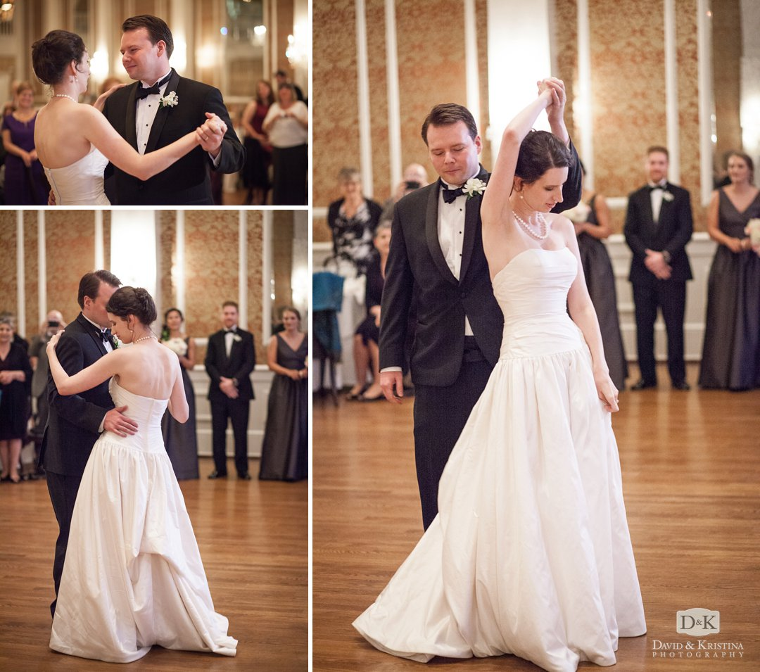Chris and Catie's first dance at The Poinsett Club ballroom