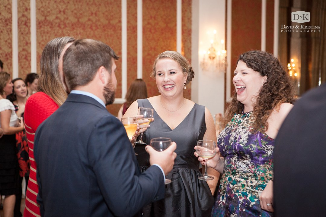 guests mingle during reception