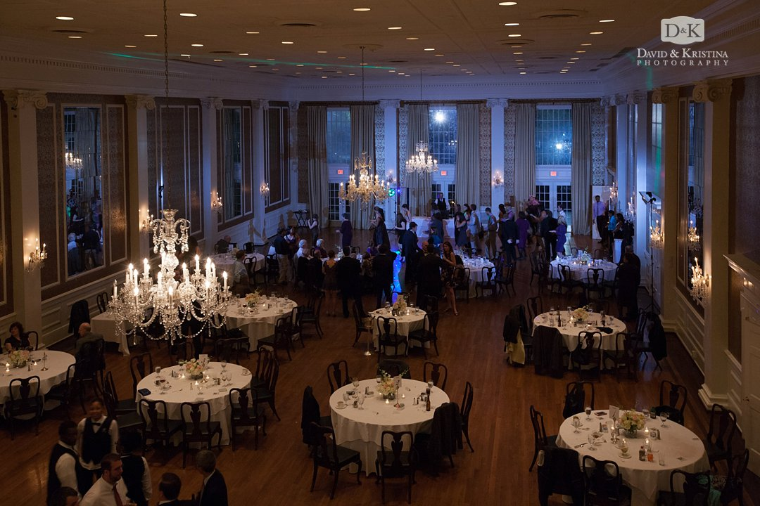 wedding reception at The Poinsett Club Greenville
