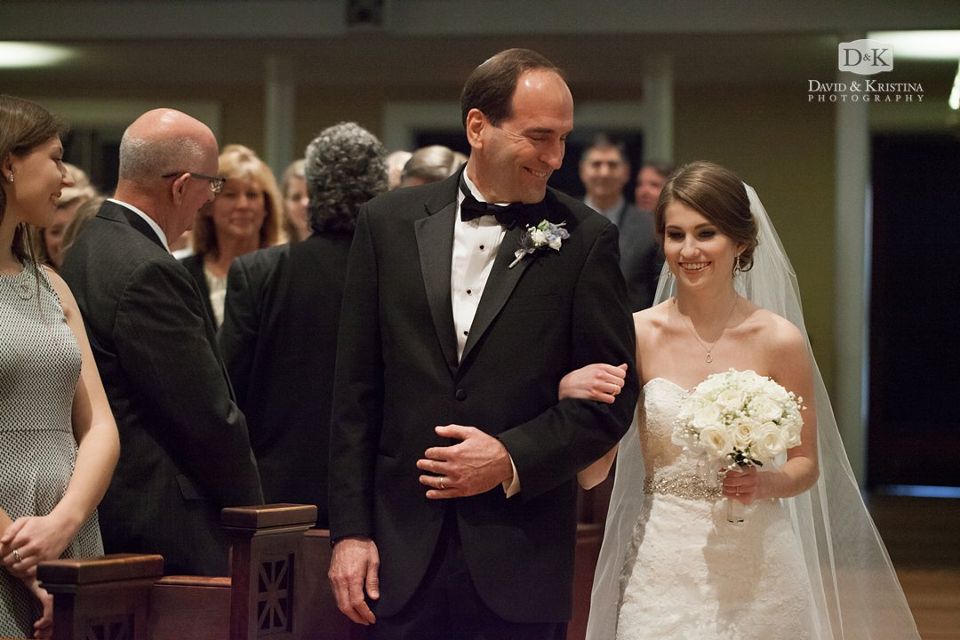 mandy walked down the aisle by father