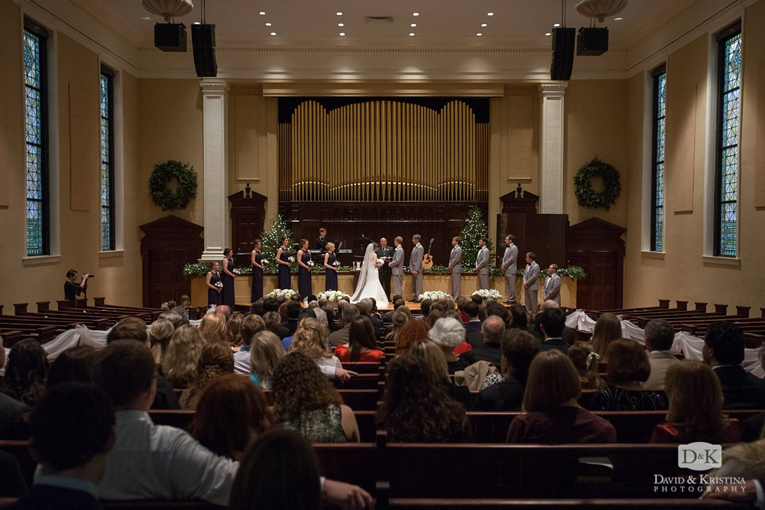 wedding ceremony at Grace Church Downtown