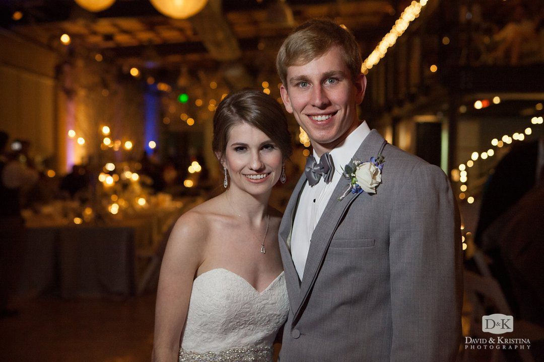 Tim and Mandy at wedding reception at Zen