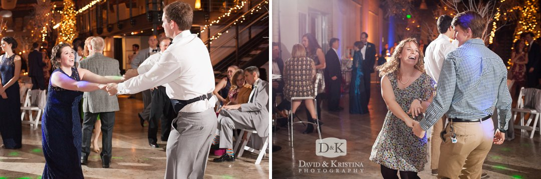 couples dancing at reception