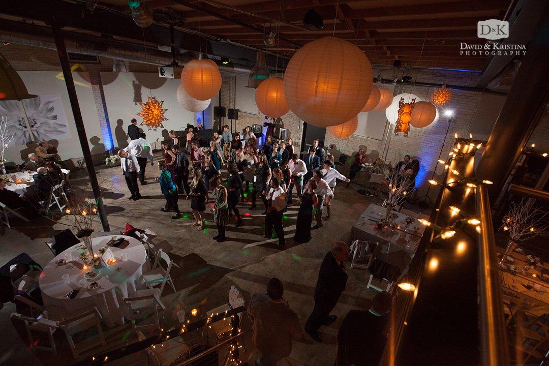 Zen wedding reception in December