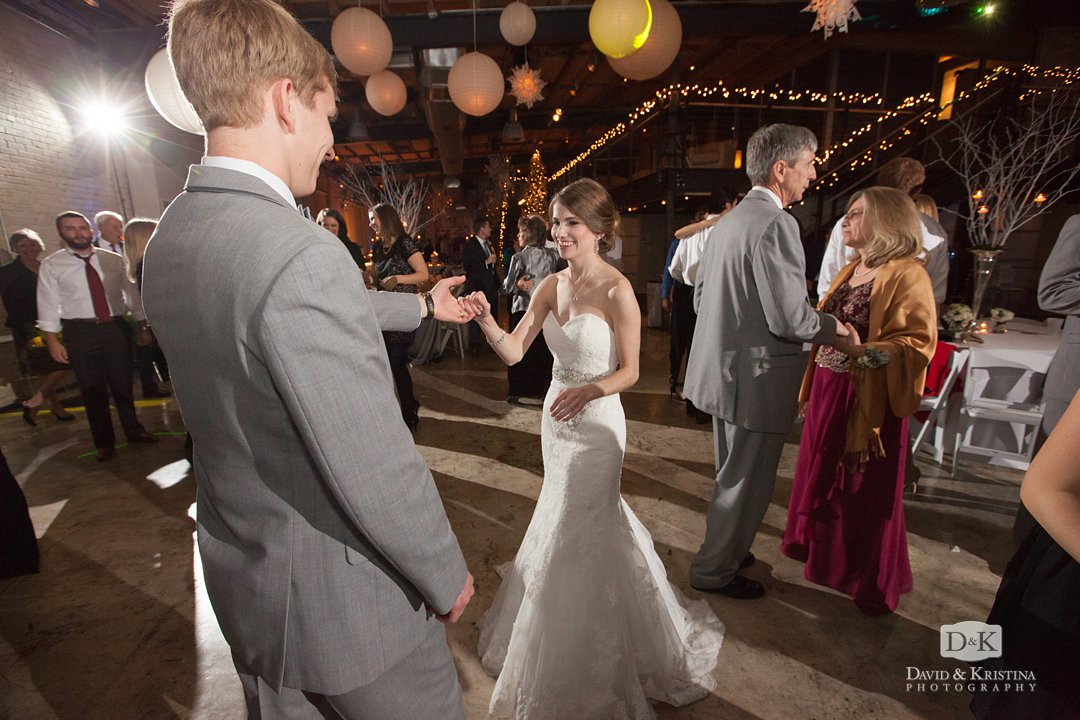 Tim and Mandy dancing at their reception