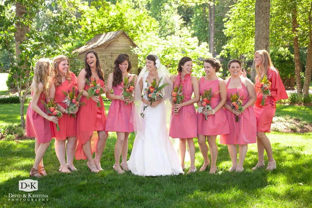 bridesmaids on the lawn at The Grove at Pennington