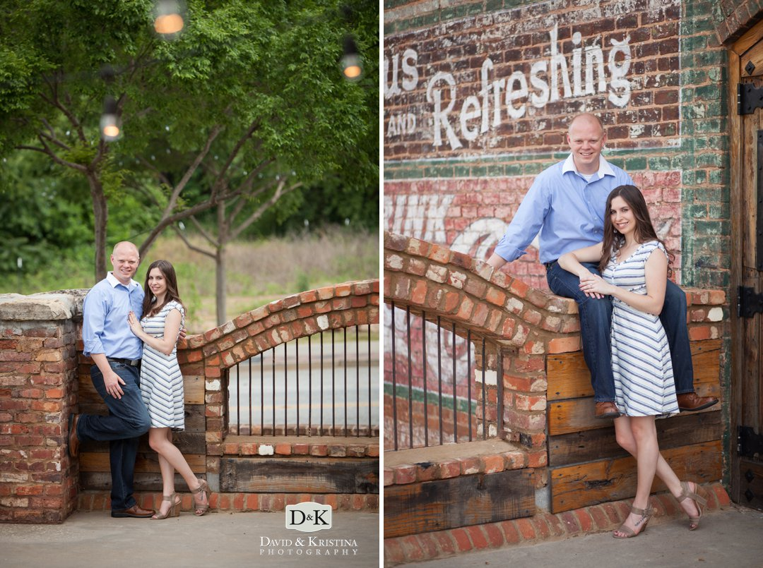 engagement photos on the deck of The Old Cigar Warehouse