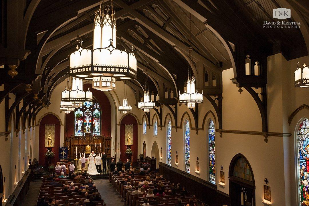 St. Mary's Catholic Church wedding in Greenville SC