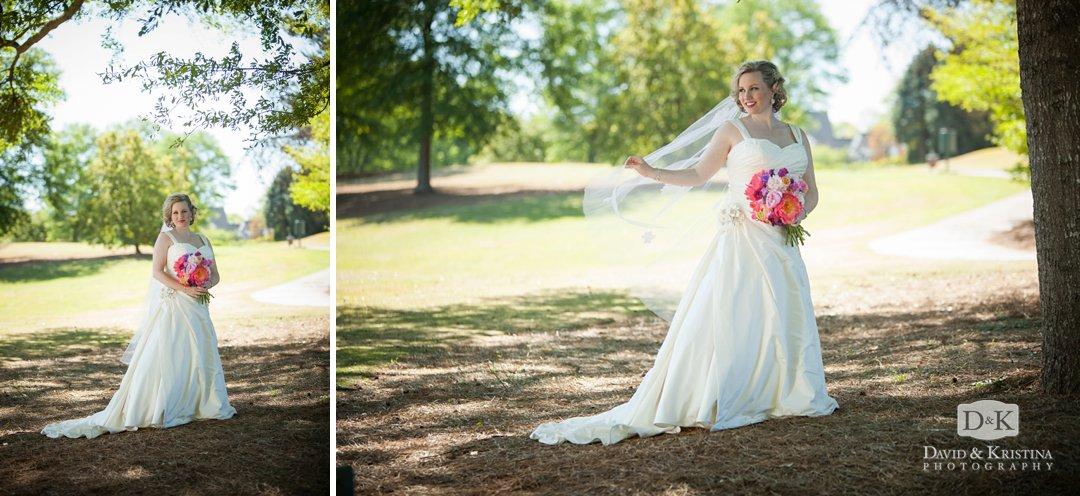 Megan's bridal portrait on the Thornblade golf course