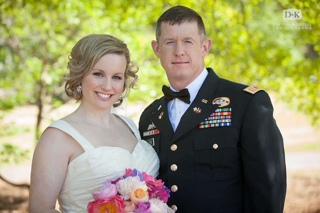 Megan with Mike in Army uniform