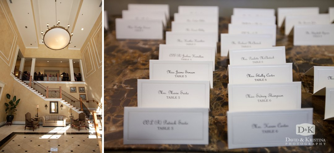 Thornblade Country club and place cards
