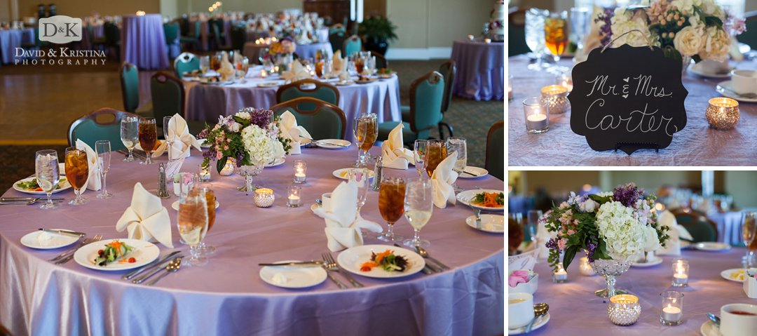 table settings at Thornblade wedding reception