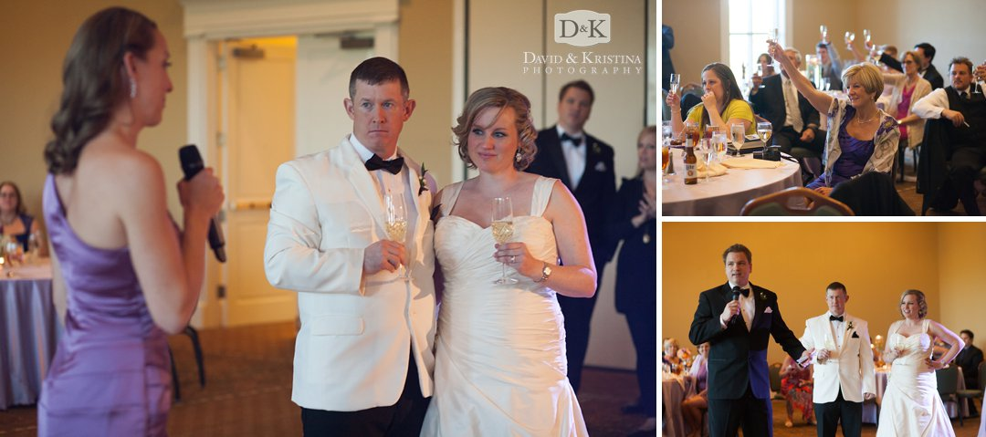 toasts by Maid of Honor and Best Man