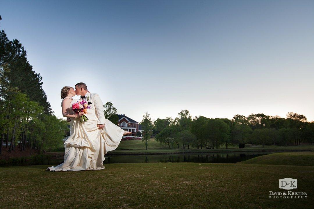 Sunset photos at Thornblade wedding reception