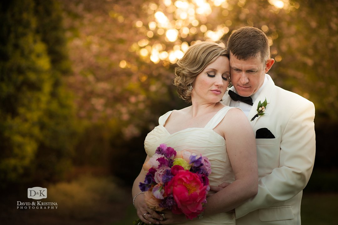 Bride and groom at Thornblade Country Club wedding photo