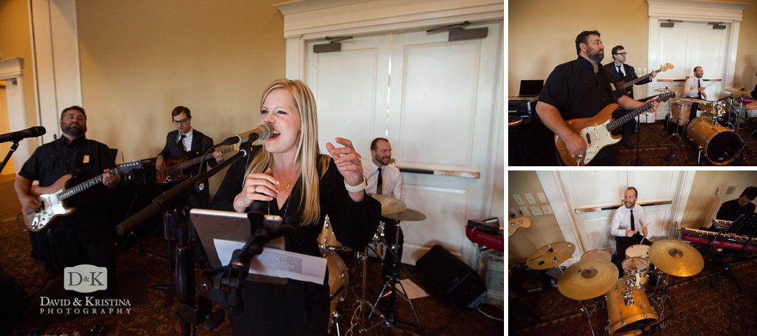 The Erica Berg Collective band playing at Thornblade wedding