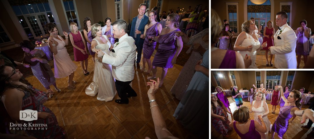 Wedding reception at Thornblade Clubhouse ballroom
