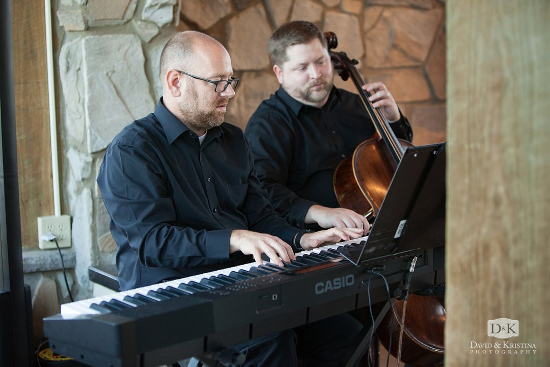 cellist and keyboard player