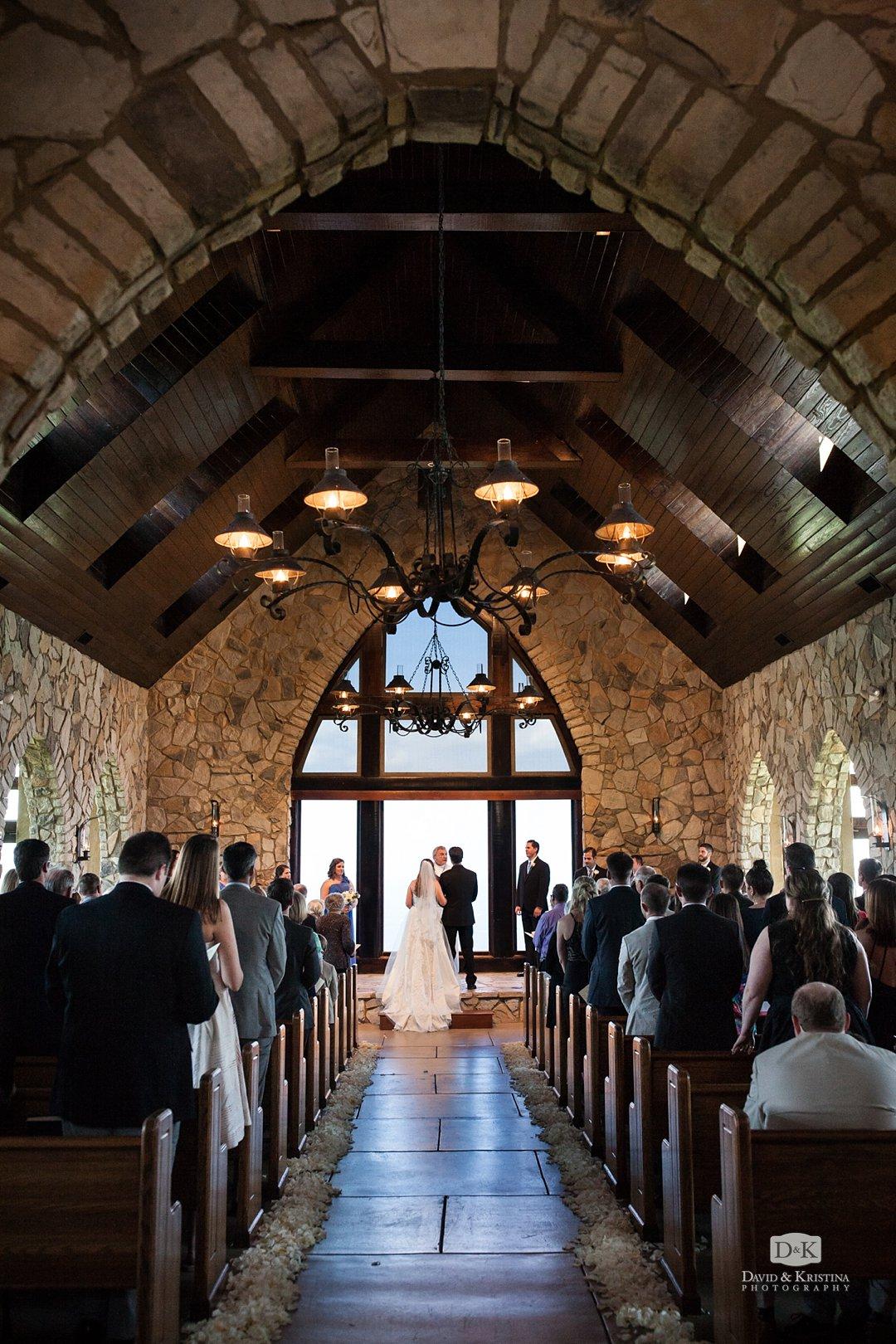 The Cliffs at Glassy wedding chapel