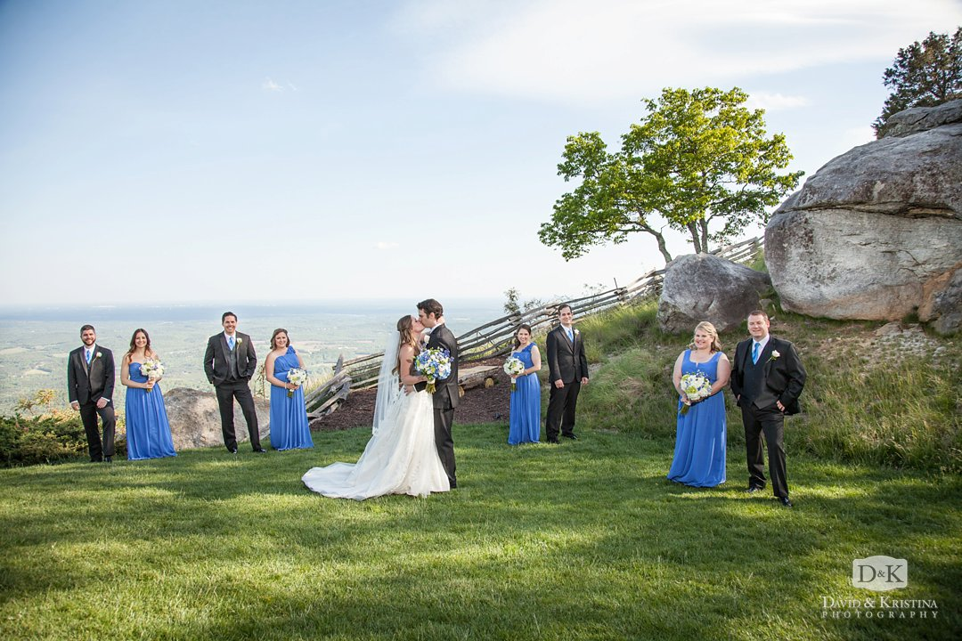 Wedding party at Cliffs at Glassy Mountain Chapel
