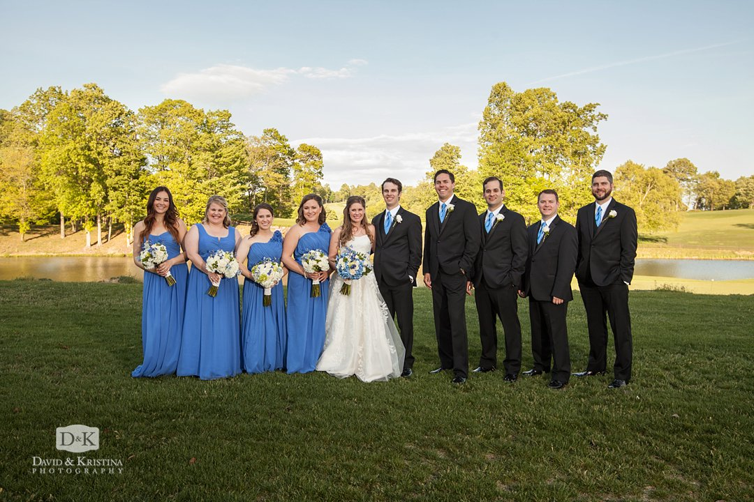 wedding party at the golf course at The Cliffs at Glassy