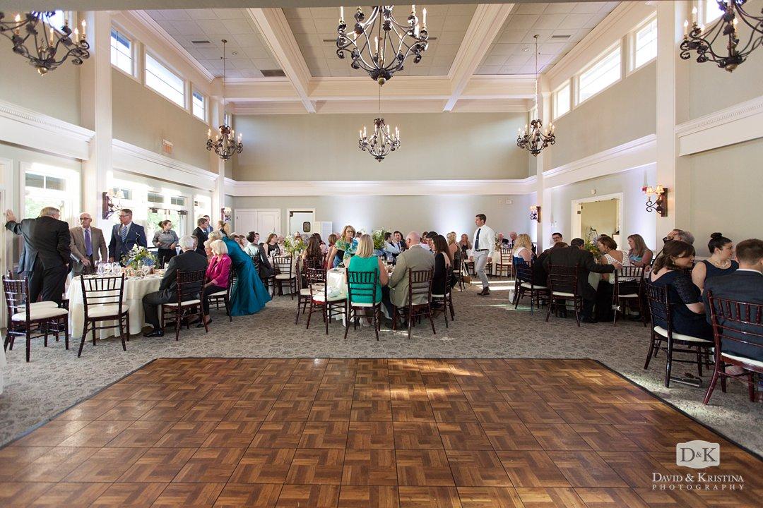 guests in ballroom at Cliffs at Glassy