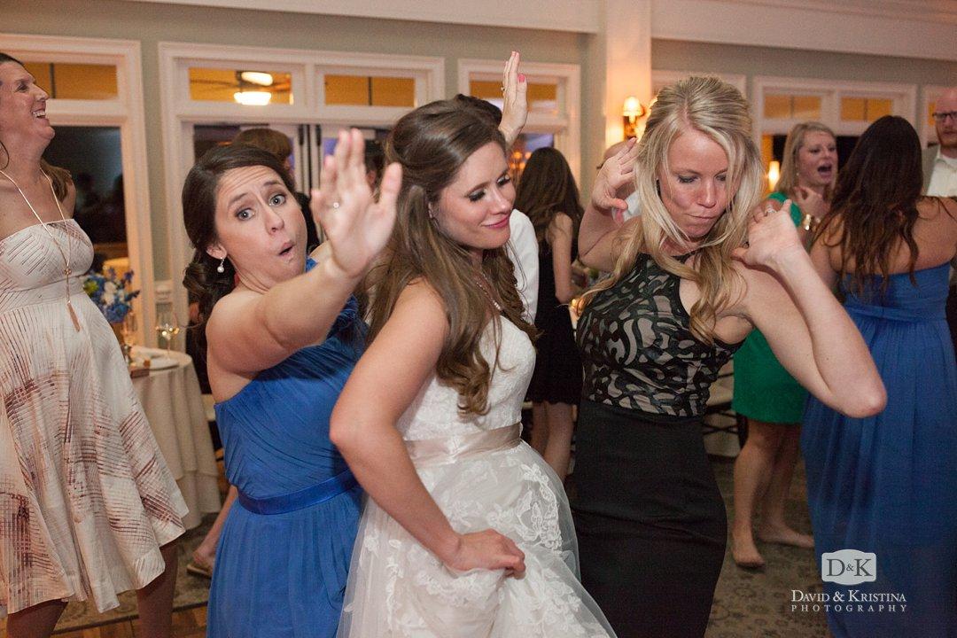 girls dancing at wedding reception