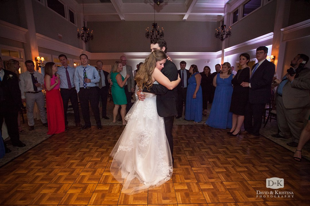 bride and groom's last dance of the night