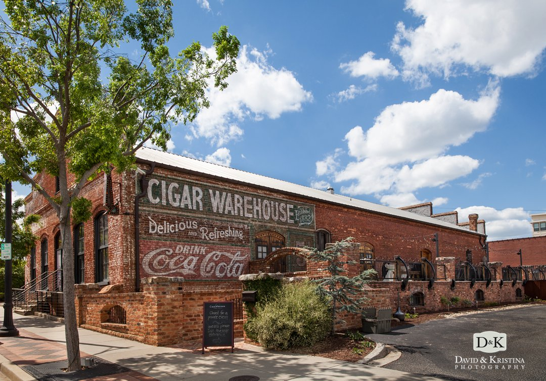 The Old Cigar Warehouse Wedding Historic Vintage Wedding Venue in Greenville SC