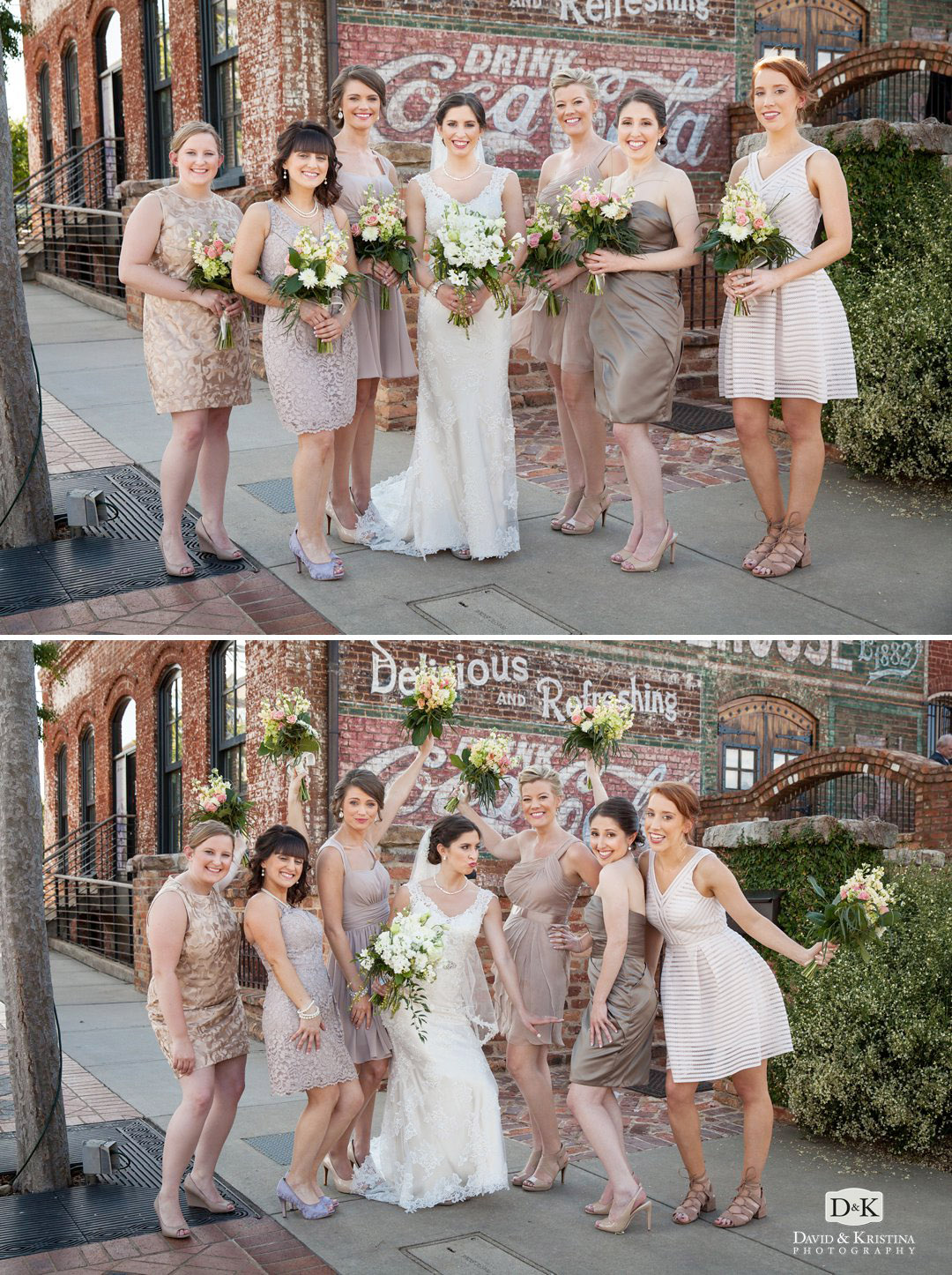bridesmaids at The Old Cigar Warehouse