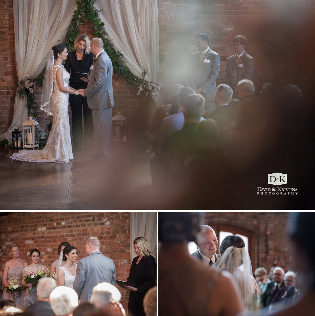 Danielle Baker wedding officiant and minister officiates wedding at Old Cigar Warehouse