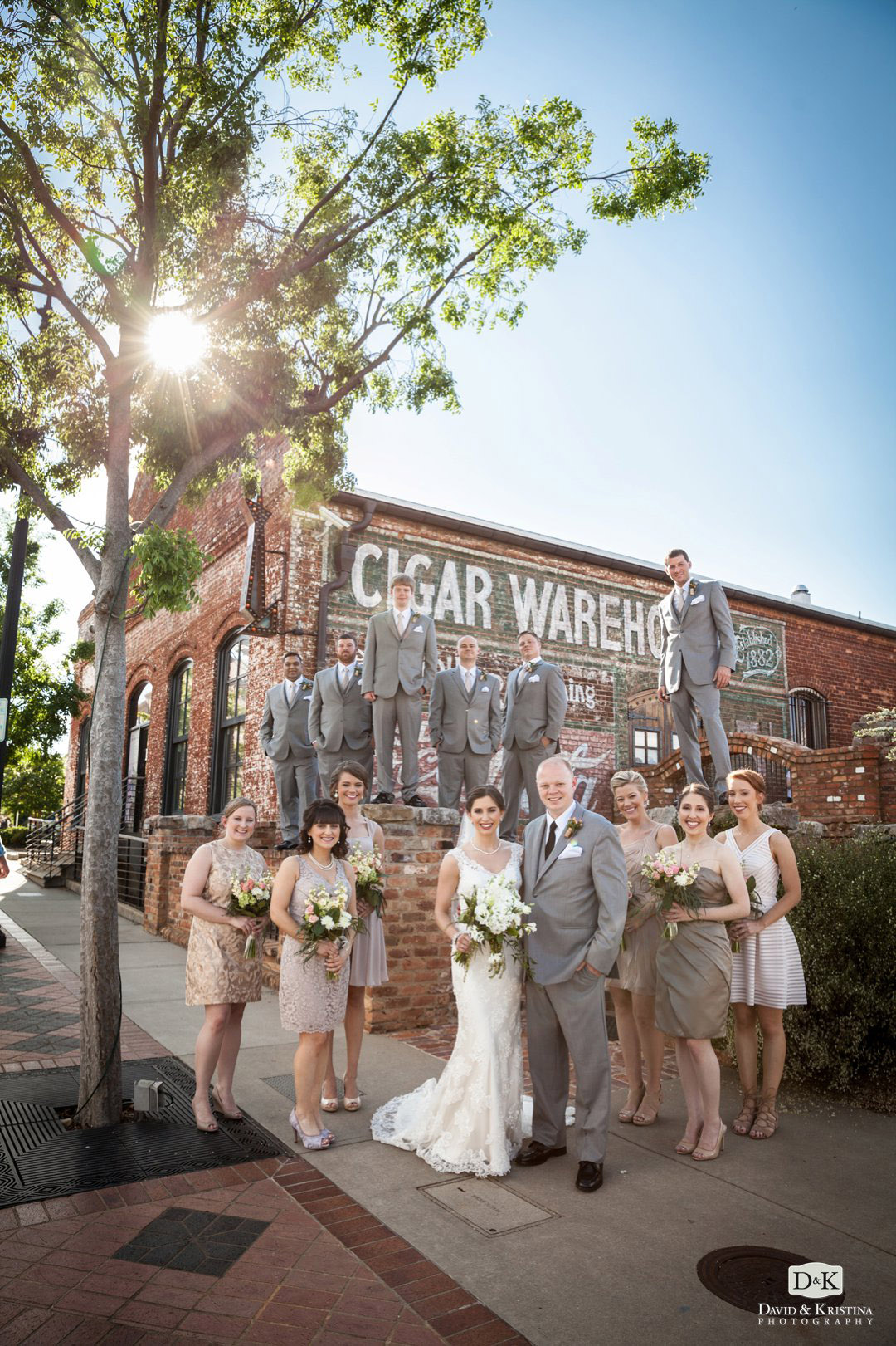 Old Cigar Warehouse wedding party photo