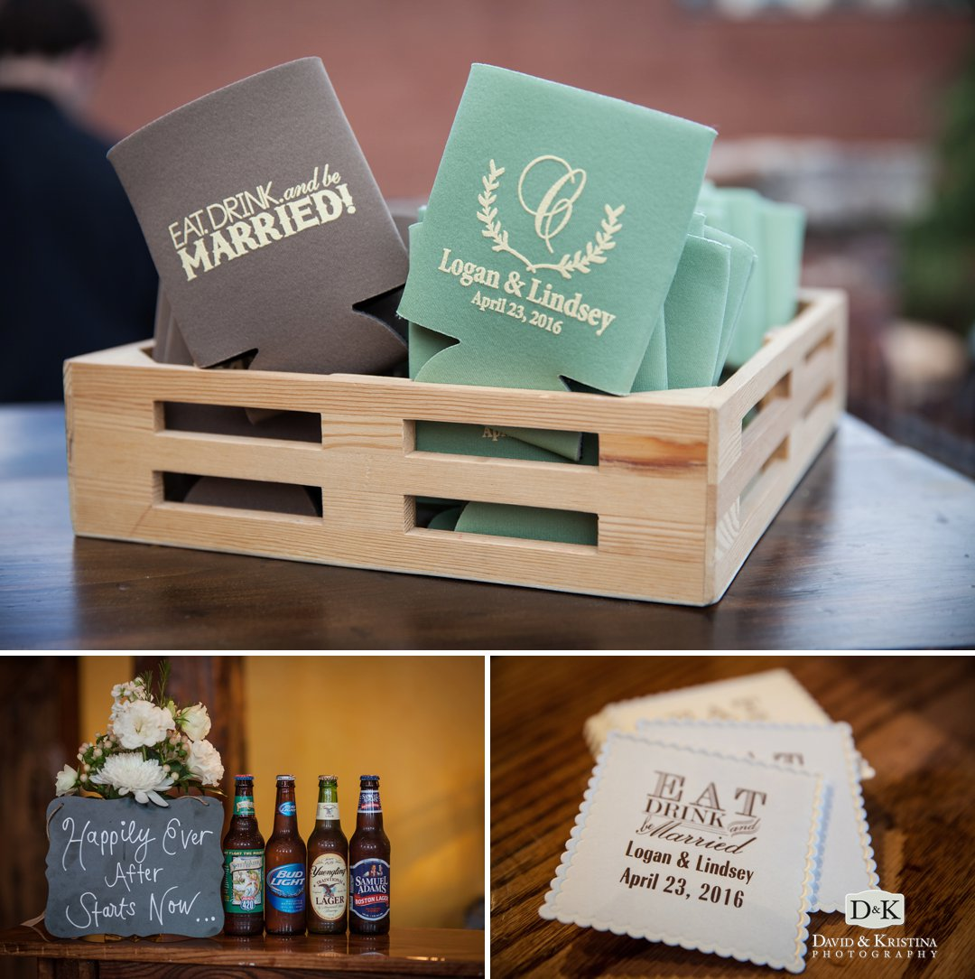 personalized koozies and coasters for wedding
