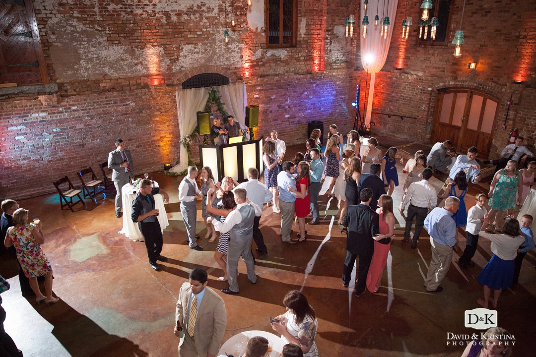 wedding reception at The Old Cigar Warehouse DJ Jumping Jukebox