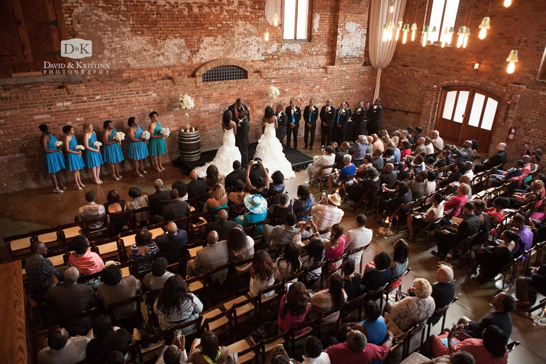 twin sisters double wedding at The Old Cigar Warehouse