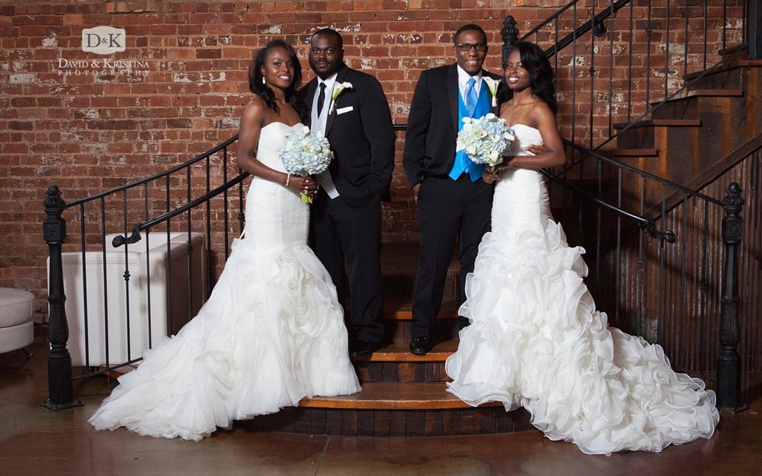 Twin Sisters have a double wedding at The Old Cigar Warehouse | Alexus + Evan AND Allison + Alfred