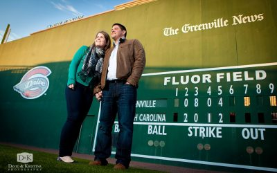 Engagement Photos at Greenville Drive's Fluor Field | Katie and Mike