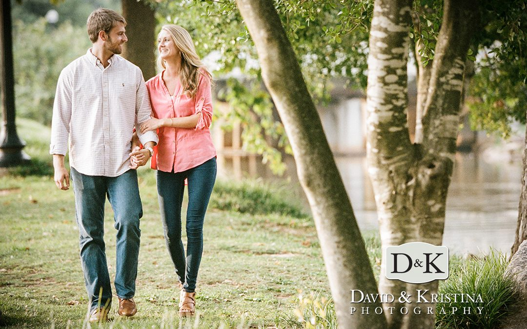 Adam and Danielle's Engagement Photos – Downtown Greenville
