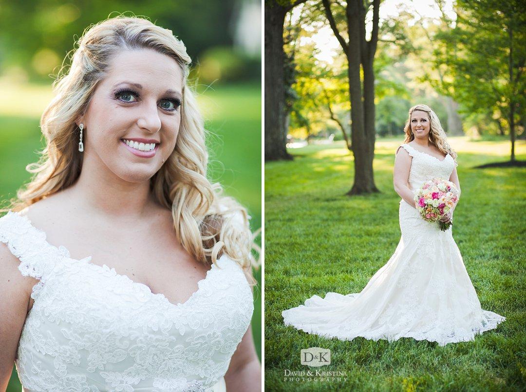 Bridal portrait at Anderson University Campus