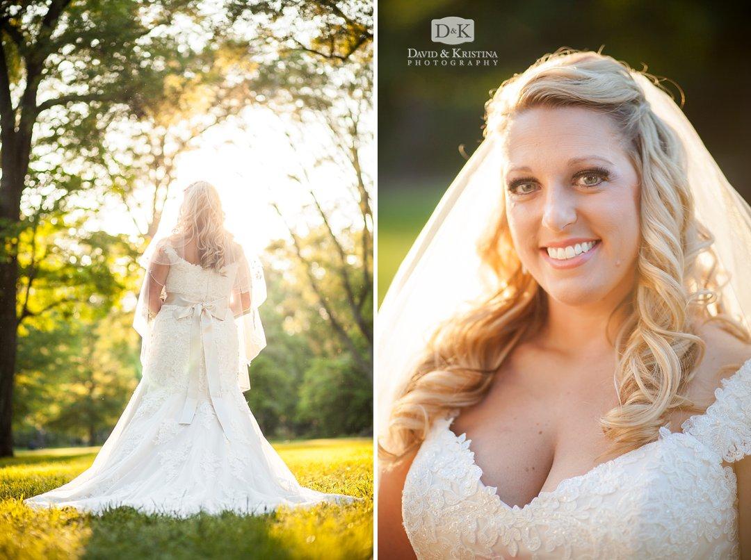 beautiful backlit bridal portrait