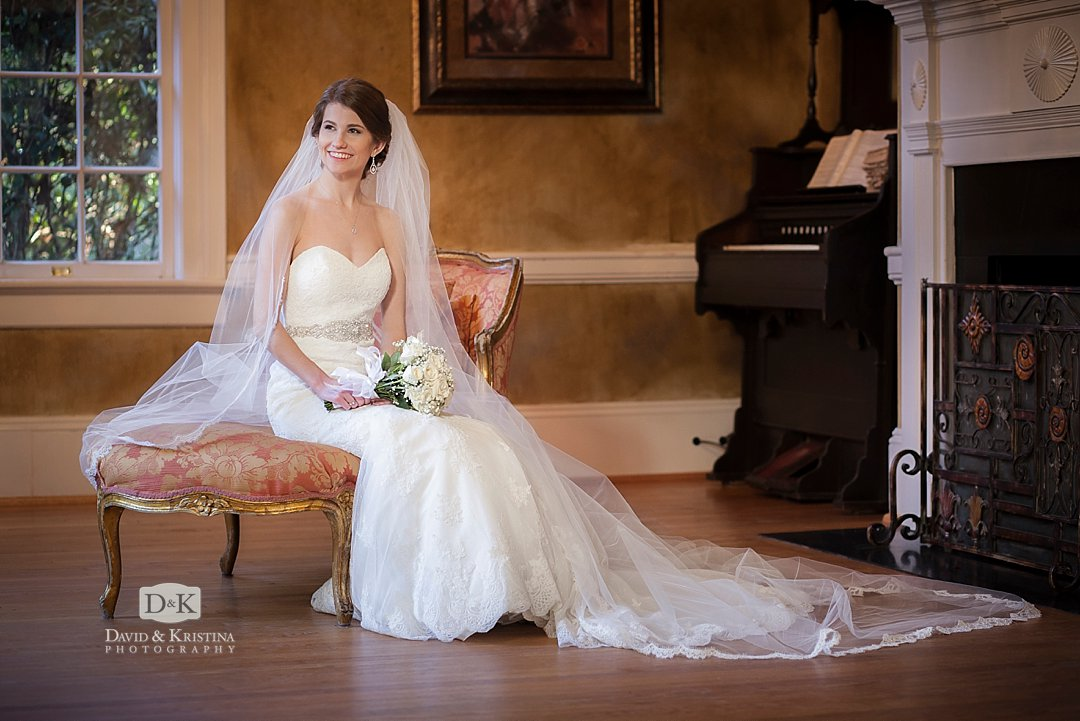 Elegant bridal portrait at Duncan Estate