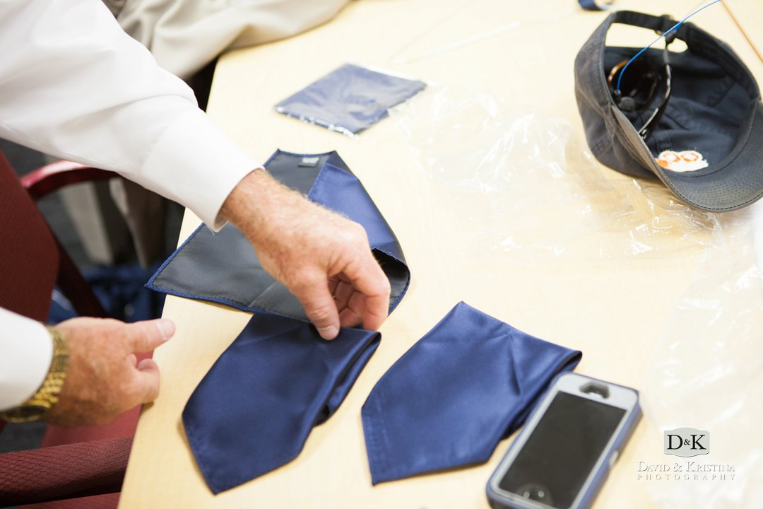 folding navy pocket squares